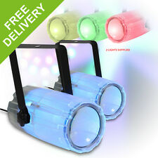 2x Colour LED Moonflower Disco DJ Lighting 2 In One Effect Glow Can Sound-Light