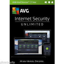New AVG Internet Security 2017 Unlimited Devices 1 Year