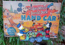 Disney Handcar Donald Duck Mickey Christmas Wooden Ornament Lionel Trains