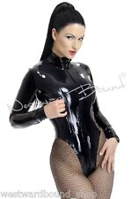 R1033 Rubber Latex Westward Bound Mistress Leotard **Pearl Blue**  £155 10 UK