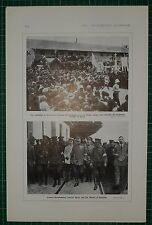 1916 WWI WW1 PRINT ~ SALONIKA RECEPTION OF COLONEL CHRISTODOULOS GREEK TROOPS