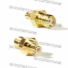 ADATTATORE ADAPTER CONNETTORE SMA FEMALE TO MCX PLUG MALE ANTENNA CONNECTOR