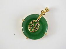CHINESE GREEN JADE LUCK SYMBOL NECKLACE PENDANT BIRTHDAY NEW YEAR PARTY PO N3
