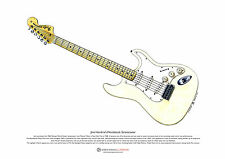 Jimi Hendrix's Woodstock Stratocaster ART POSTER A3 size