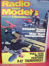RCM&E OCTOBER 1981 SCHNEIDER TROPHY P47 THUNDERBOLT F/SIZE PLAN CLIVE SMALLEY