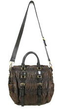 PRADA FANTASTIC CHOCOLATE BROWN LEATHER SHOULDER BAG, ITALY, EXCELLENT