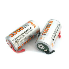 2 Pcs SubC Sub C 3300mAh NiMH Rechargeable Battery with Tab Ultracell
