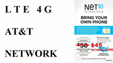 -----     DUAL SIM CARD FROM NET10 / AT&T UNLIMIED DATA TALK TEXT 411