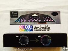 New Droplets Hearts Colour Changing Umbrella Changes When Wet