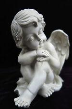 schlafender Engel Figur Skulptur antik-weiß schlafende Engelsfigur elfenbein