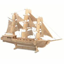 SAILING SHIP Woodcraft Construction Kit - Wooden SHIP Model 3D Puzzle KID/ADULT