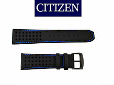 Citizen CA0467-03E ECO-DRIVE BLACK watch band 23mm STRAP Blue stitches