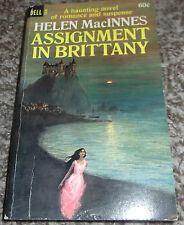 ASSIGNMENT IN BRITTANY BY HELEN MACINNES BOOK VINTAGE GOTHIC ROMANCE 1967 DELL