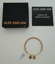 NEW Alex and Ani Blush Color Beaded Wire Bracelet Shiny Yellow Goldtone NWT