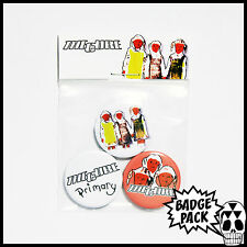 The Cure - Primary Button Badge Pack - 3 x 25mm Button Badges