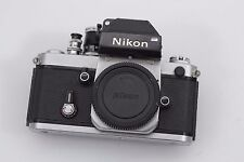 EXC++ NIKON F2 PHOTOMIC SLR SILVER BODY w/ DP-1 FINDER, SOFT RELEASE, ACCURATE!