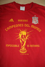 Adidas FIFA World Cup 2010 South Africa Men's Red Shirt Size 100 Campeones Del