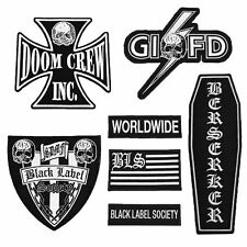 Black Label Society Front Patch Set  BLS Aufnäher Set Official Merchandise