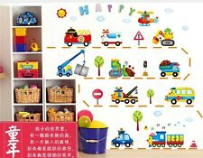 Engineering vehicles Home Decor Removable Wall Sticker/Decal/Decoration