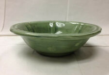 """DERUTA """"KALEIDOSCOPE"""" GREEN CEREAL BOWL 6 5/8"""" HAND PAINTED POTTERY ITALY"""