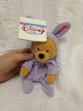 "Disney Store Easter POOH 1998 Purple Plush Bean Bag Figure 8"" Beanie"