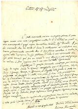 Lettera Autografo Sig Mercatali Progetto Strada Firenze a Ravenna Marradi 1838