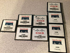Genuine Original Cisco Compact Flash memory cards 512MB 128MB 64MB 32MB Lot of 9