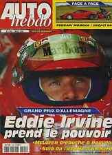 AUTO HEBDO n°1199 du 4 Août 1999 GP ALLEMAGNE FERRARI MODENA DUCATI 996
