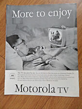 1958 Motorola TV Television Ad  The TV that Plays by Ear