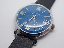 Vintage 1970 Caravelle 7 Jewels Watch Cal. 11DPD Water Resistant with blue dial