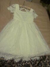 New with tags Girls Ivory dress age 8-9 years Monsoon