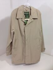 EDDIE BAUER MEN'S TRENCH COAT SMALL DARK SAND SMALL NWT $99
