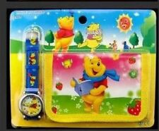 NEW Childrens Kids Winnie The Pooh Reading A Book Wallet Watch Gift Set