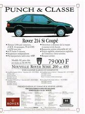 Publicité Advertising 1992 Rover 214 Si Coupé