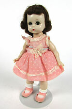 "Vintage 1950s Madame Alexander-kins Pink Polka Dot Dress Bend Knee 8"" Alex Doll"