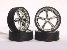 Hoppin Hydros 1/24 1/25 scale MONSTER 24s BELLAGIO Wheels Rim & Tires Model Car