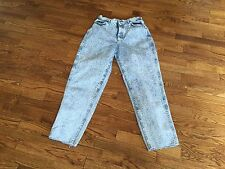 """Vintage Lee Riders Womens Acid Wash Relaxed Fit High Waisted Blue Jeans 26""""x27"""""""