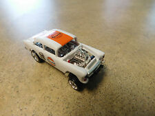 "Hot Wheels ""GULF LIVERY"" SUPER TREASURE -55 CHEVY BEL AIR GASSER W/REAL RIDERS-"