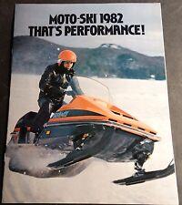 VINTAGE 1982 MOTO-SKI SNOWMOBILE SONIC FULL LINE SALES BROCHURE 18 PAGES  (556)