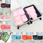 6Pcs Clothes Storage Bags Set Packing Cube Travel Luggage Organizer 7Color