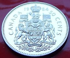 PL GEM STRIKE SET ISSUED 1984 CANADA 50 Cent piece, Excellent Frosted Surfaces