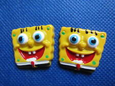 5 decorazioni in resina 29 mm, retro piatto Spongebob capelli e varie