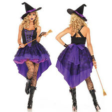 Sexy Witch Cosplay Costume Women Ladies Adult Fancy Dress Halloween Costume XL