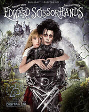 Edward Scissorhands (Blu-ray Disc, 2015, 25th Anniversary) NEW