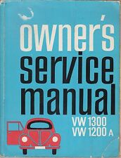 VW BEETLE 1200 1300 & KARMANN GHIA 1300 SALOON CABRIOLET COUPE 66- REPAIR MANUAL