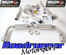 "Milltek Golf GTI MK6 Turbo Back Exhaust 3"" Inc De-Cat Downpipe Resonated Rear"