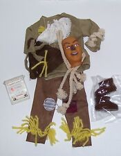 "1/6 SCALE 12"" MALE FASHION DOLL WIZARD OF OZ SCARECROW COSTUME WITH MASK"
