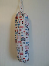 London Carrier Bag Holder/Dispencer  Homecrafted Shabby Chic