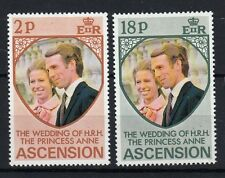 Ascension Island 1973 Matrimonio Principessa Anna con Mark Phillips MNH