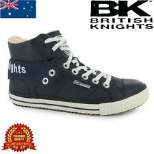 BRITISH KNIGHTS ROCO FOLD FUR MEN HIGH TOPS TRAINERS SNEAKERS NAVY